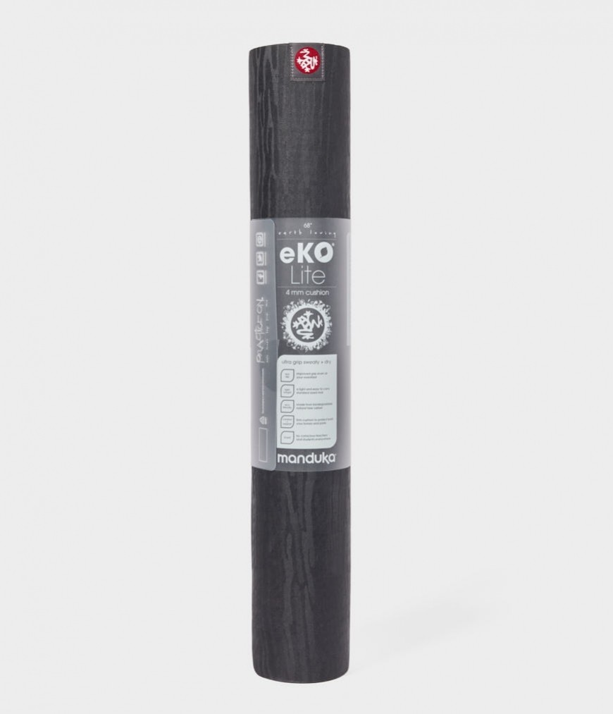 Manduka Eko Lite 4mm Charcoal Joga Prostirka