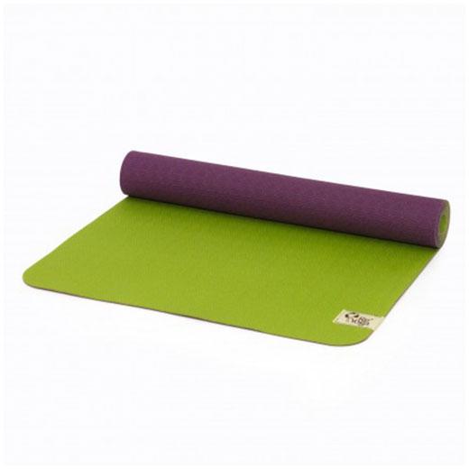 reyoga free light green violet joga prostirka
