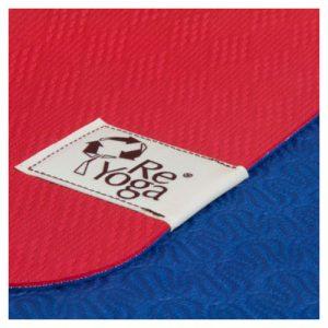 reyoga free light red dark blue joga prostirka