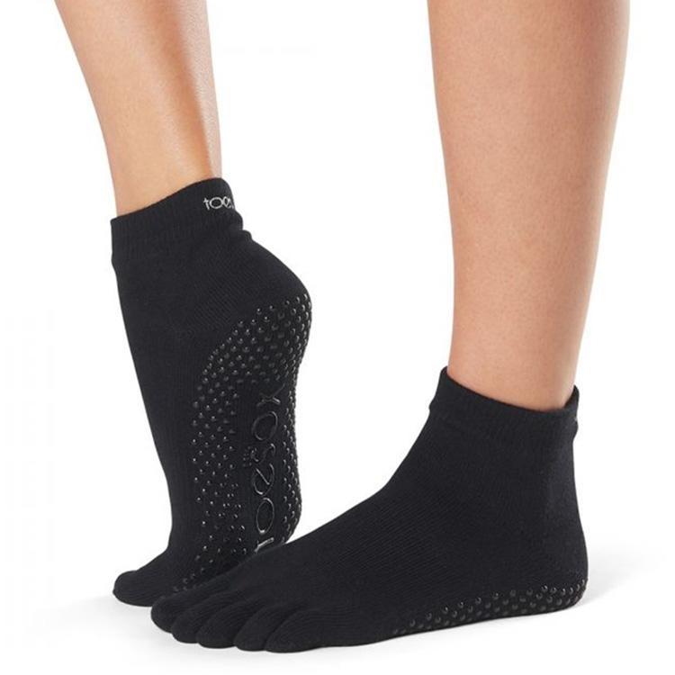 toesox full toe ankle grip carape za jogu black