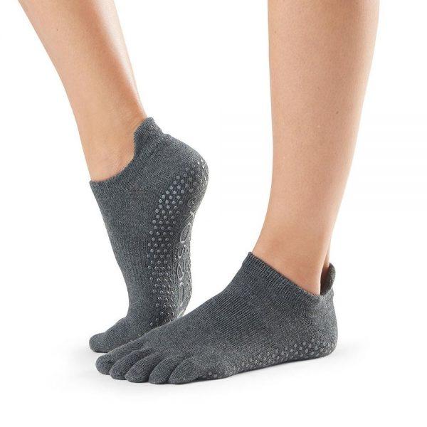 toesox full toe low rise carape za jogu charcoal grey