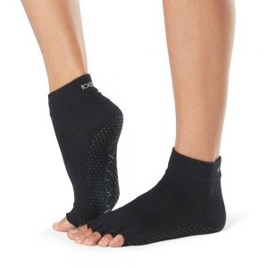 toesox half toe ankle grip carape za jogu black