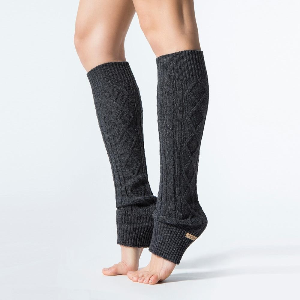 toesox leg warmer knee high grejaci za noge charcoal grey