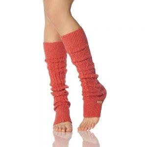 toesox leg warmer knee high grejaci za noge coral