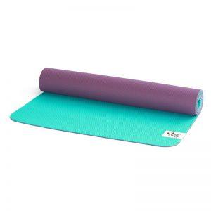 reyoga free light turquoise violet joga prostirka