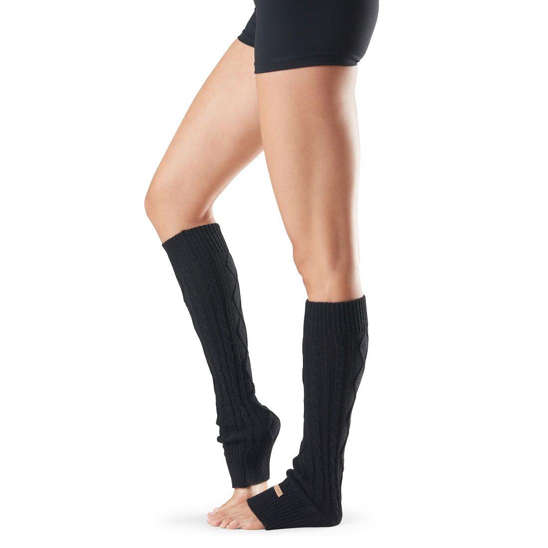 toesox leg warmer knee high grejaci za noge black