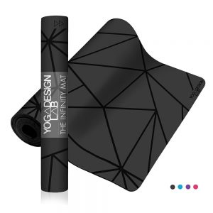 Yoga Design Lab Infinity Geo Charcoal Joga Prostirka