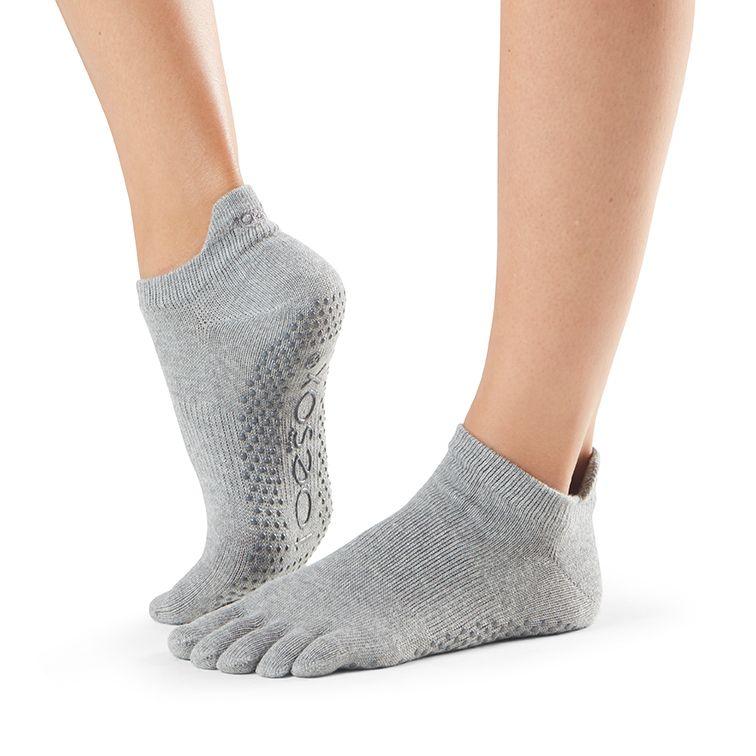 toesox full toe low rise carape za jogu heather grey