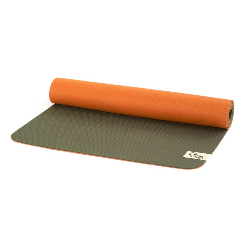 reyoga free light olive orange joga prostirka