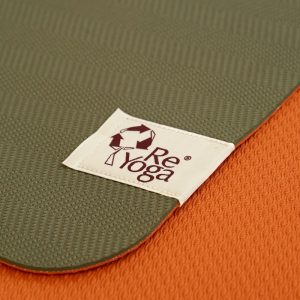 reyoga free light olive orange joga prostirka